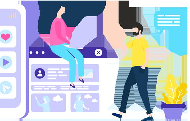 Digital Marketing CTA Illustration