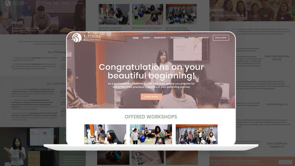 Birthing Beginnings Website