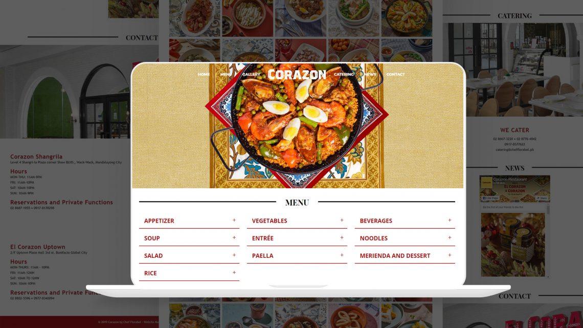 Corazon Website