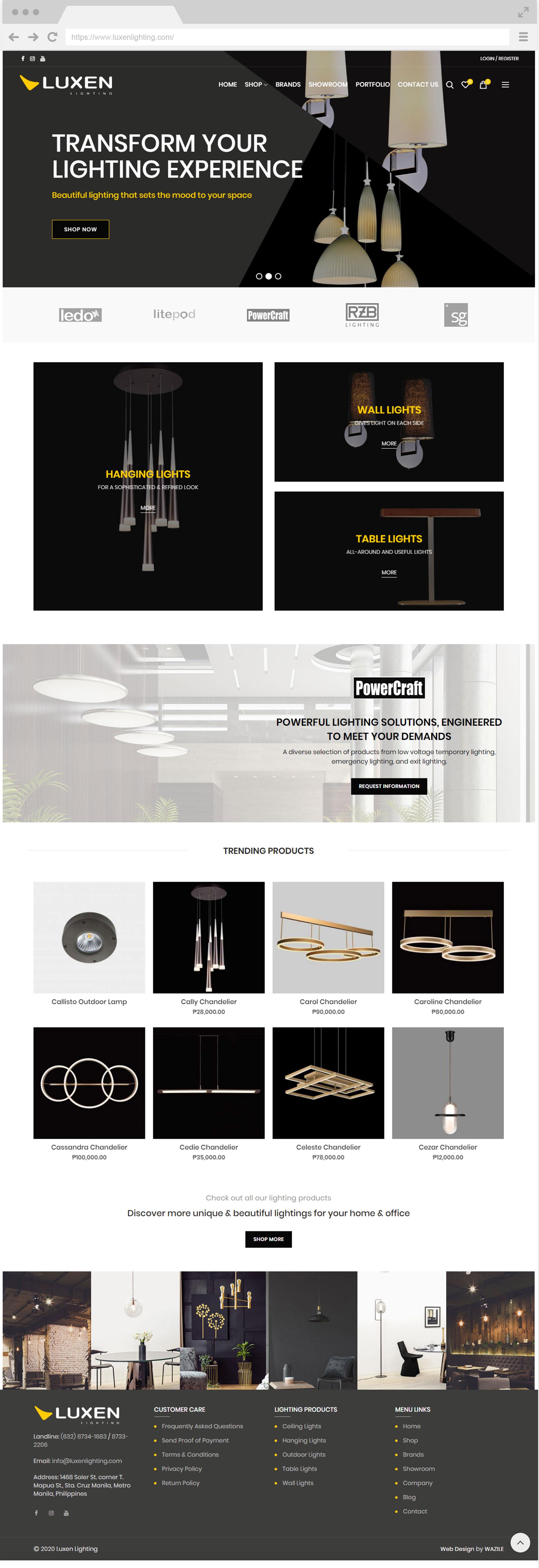 Luxen Lighting Homepage