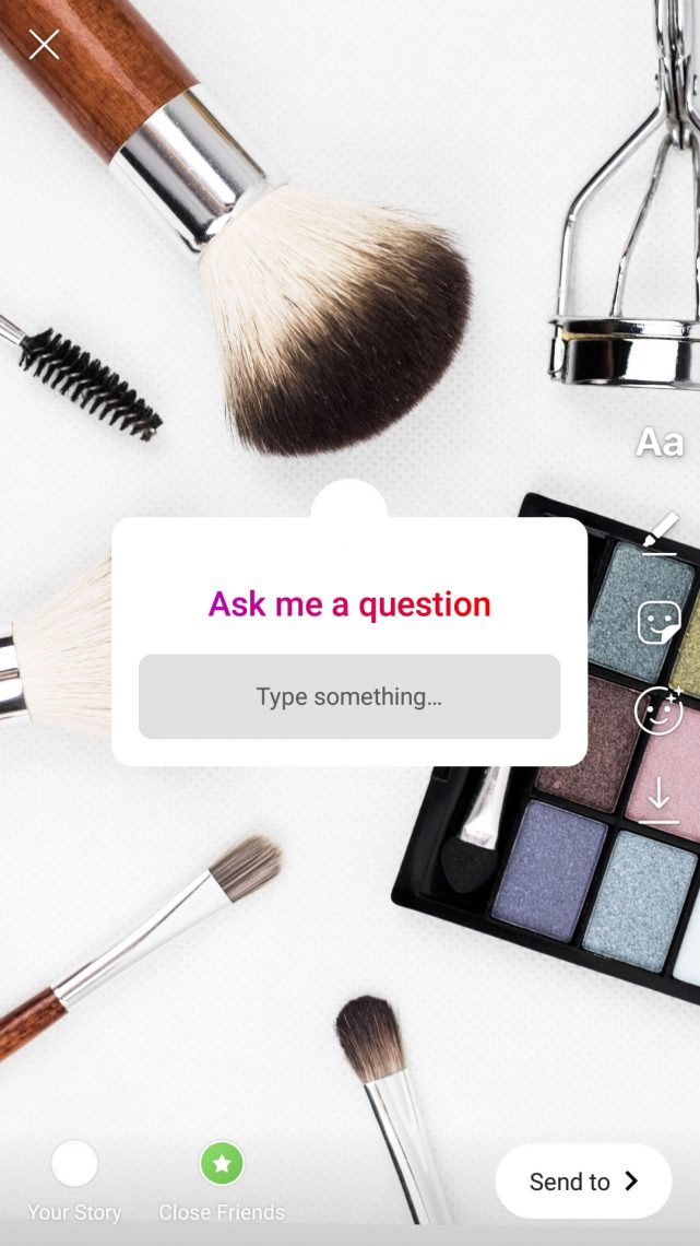 asking question for feedback on instagram stories