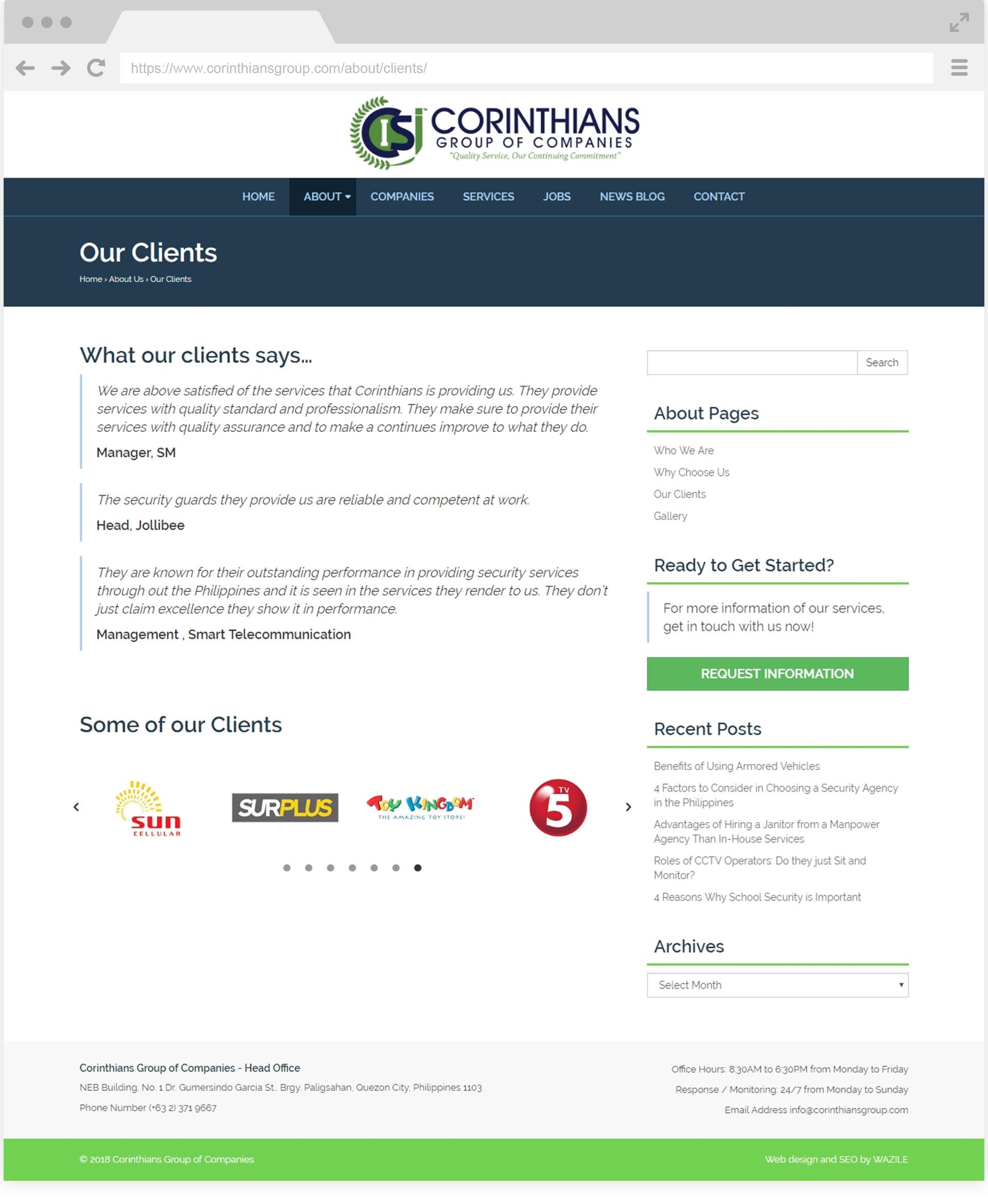 Corinthians Group Clients