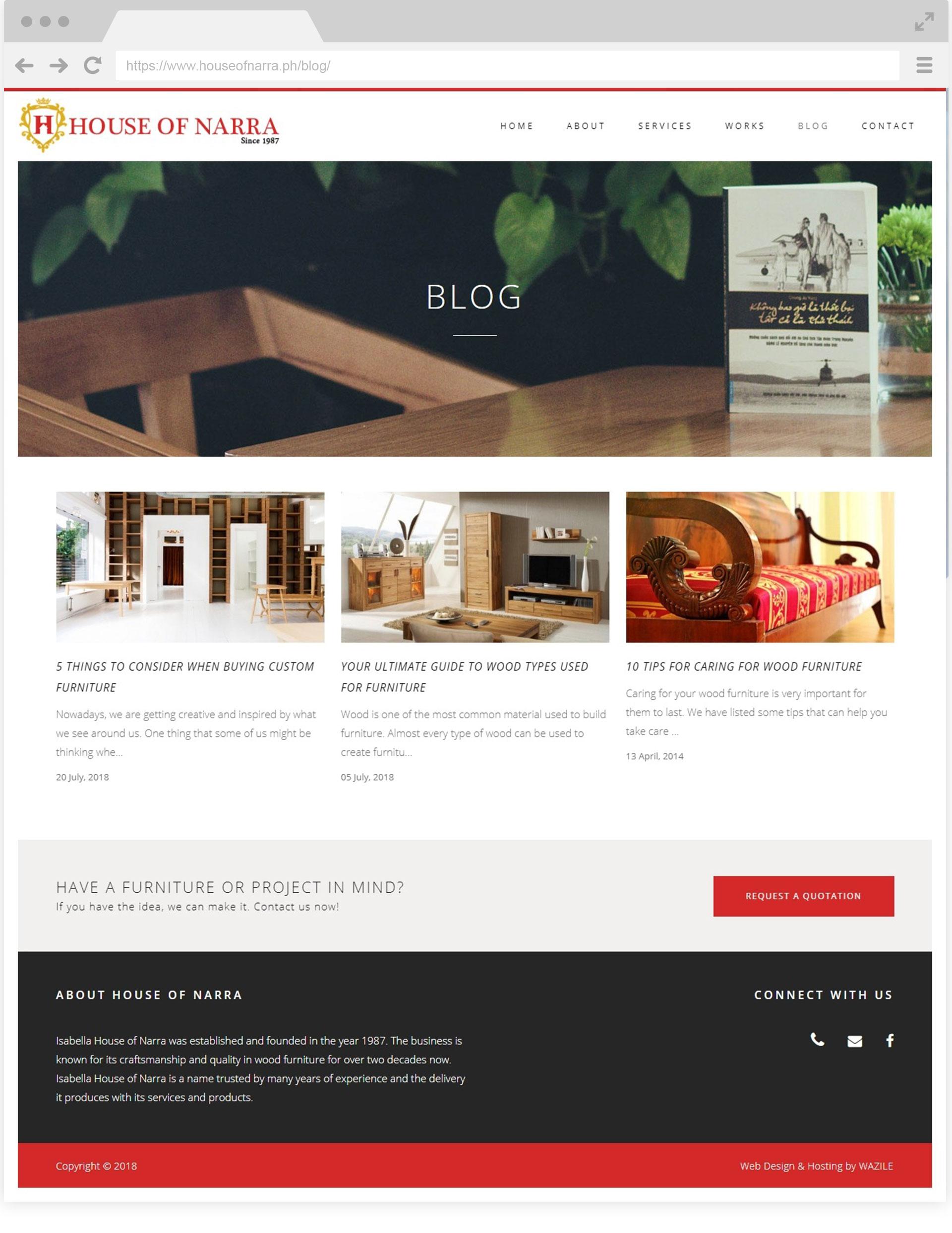 House of Narra Blog