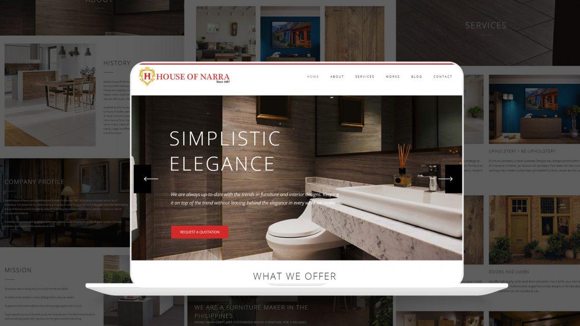 House of Narra Website