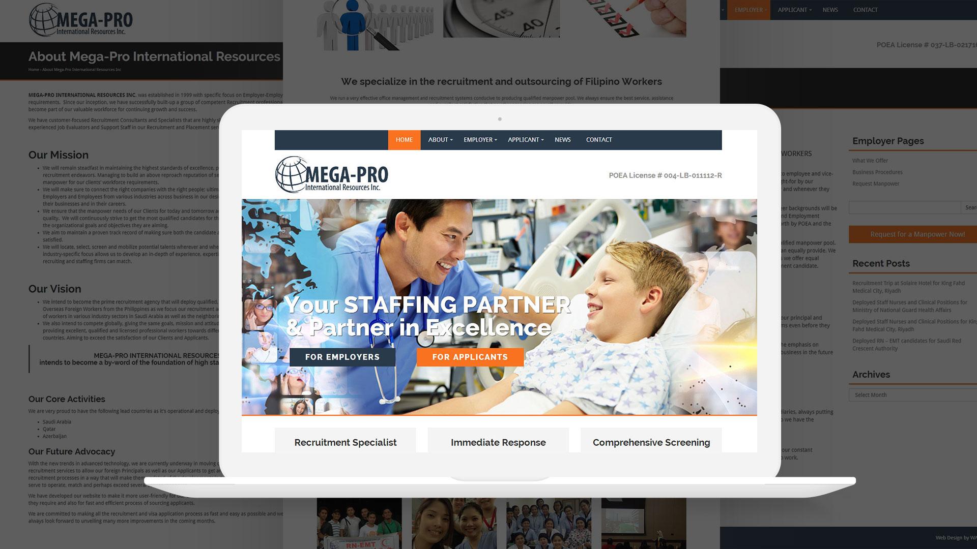 Mega Pro International Website