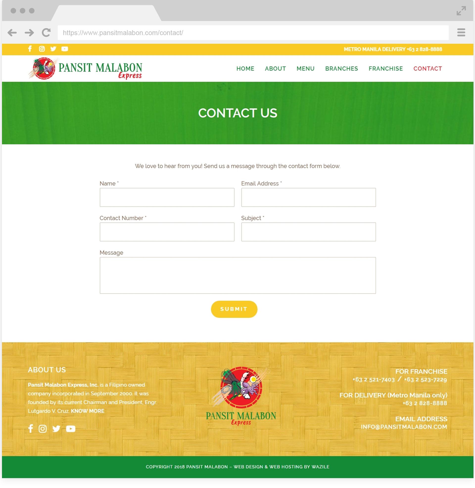 Pansit Malabon Contact