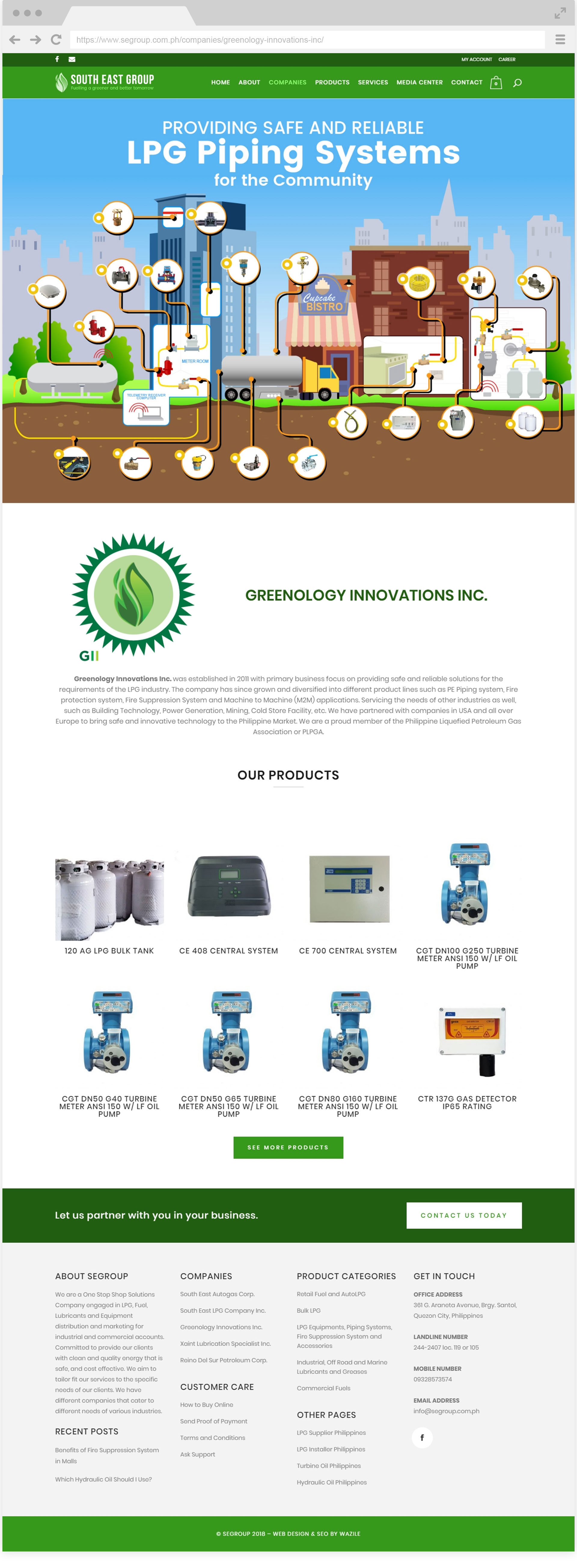 South East Group Greenology Innovations Inc.