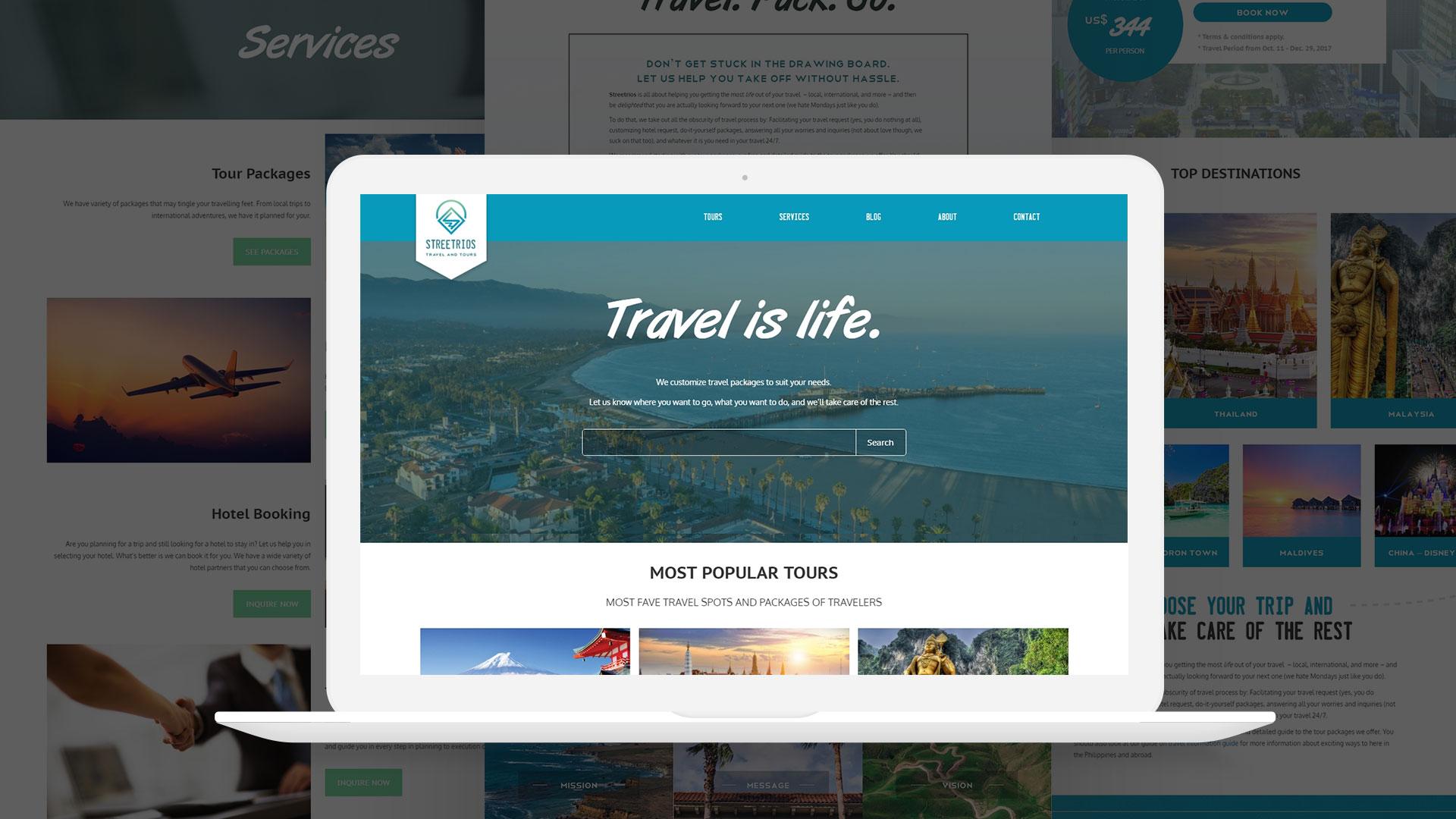 Streetrios Travel Website