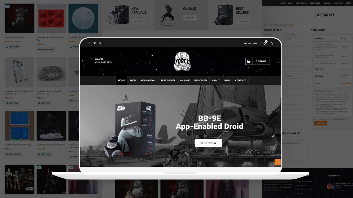 The Force Shop Website