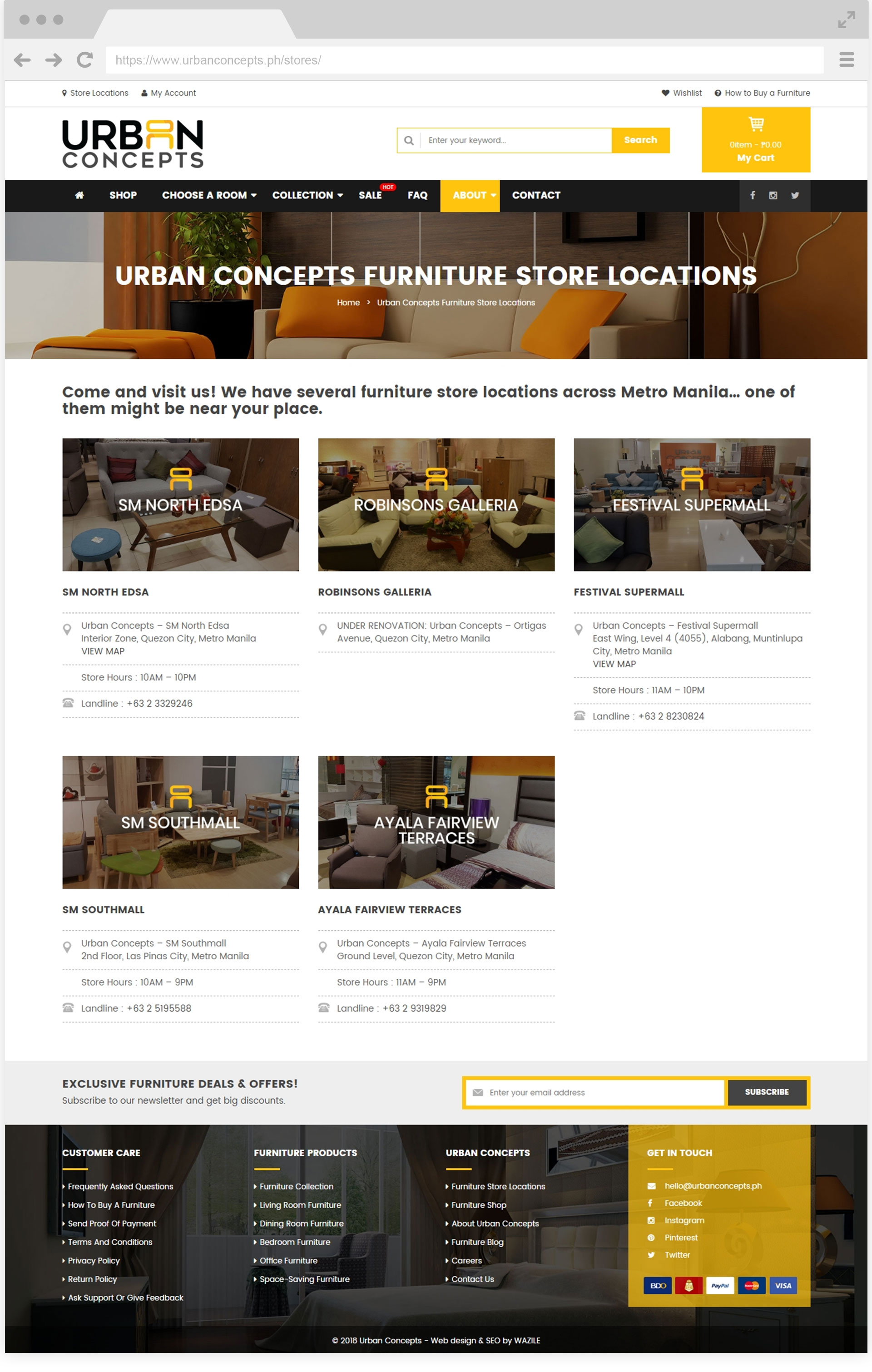 Urban Concepts Store Locations