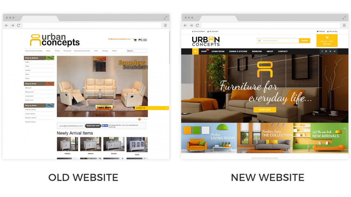 Urban Concepts Website Old New