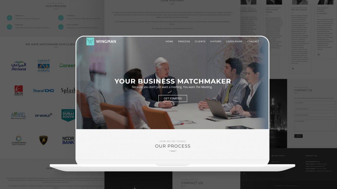 Wingman Dubai Website
