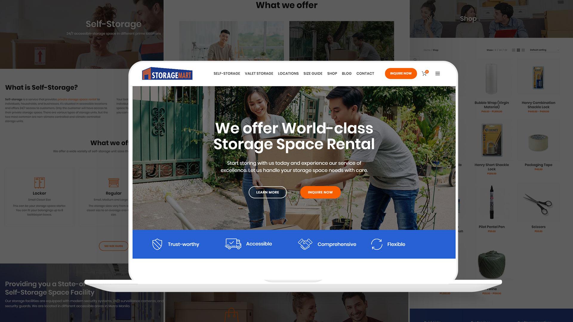 StorageMart Website