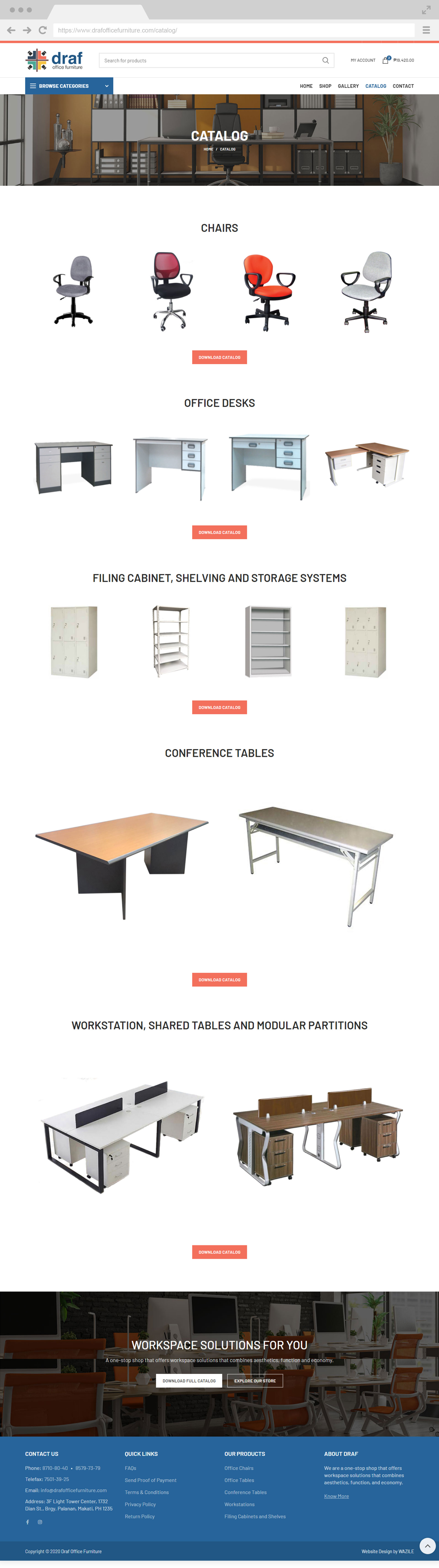 Draf Office Furniture Catalog