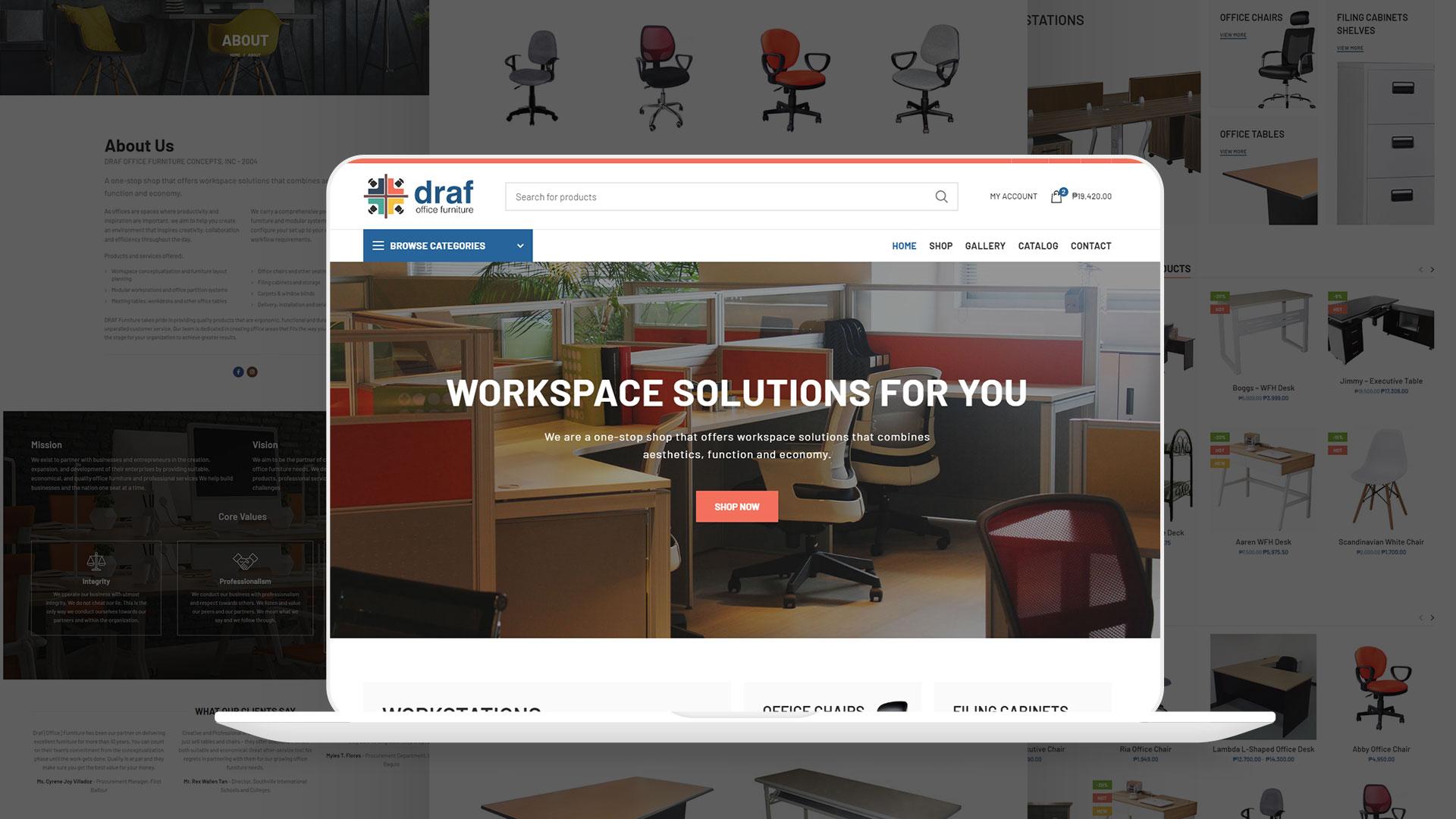 Draf Office Furniture Website