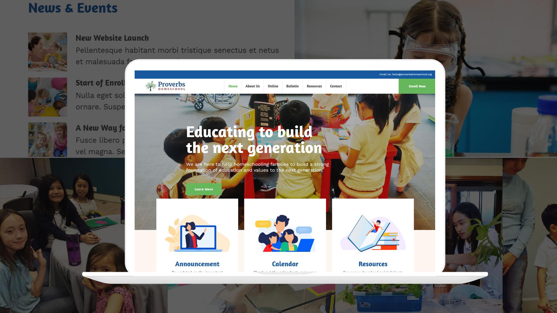 Proverbs Homeschool Website