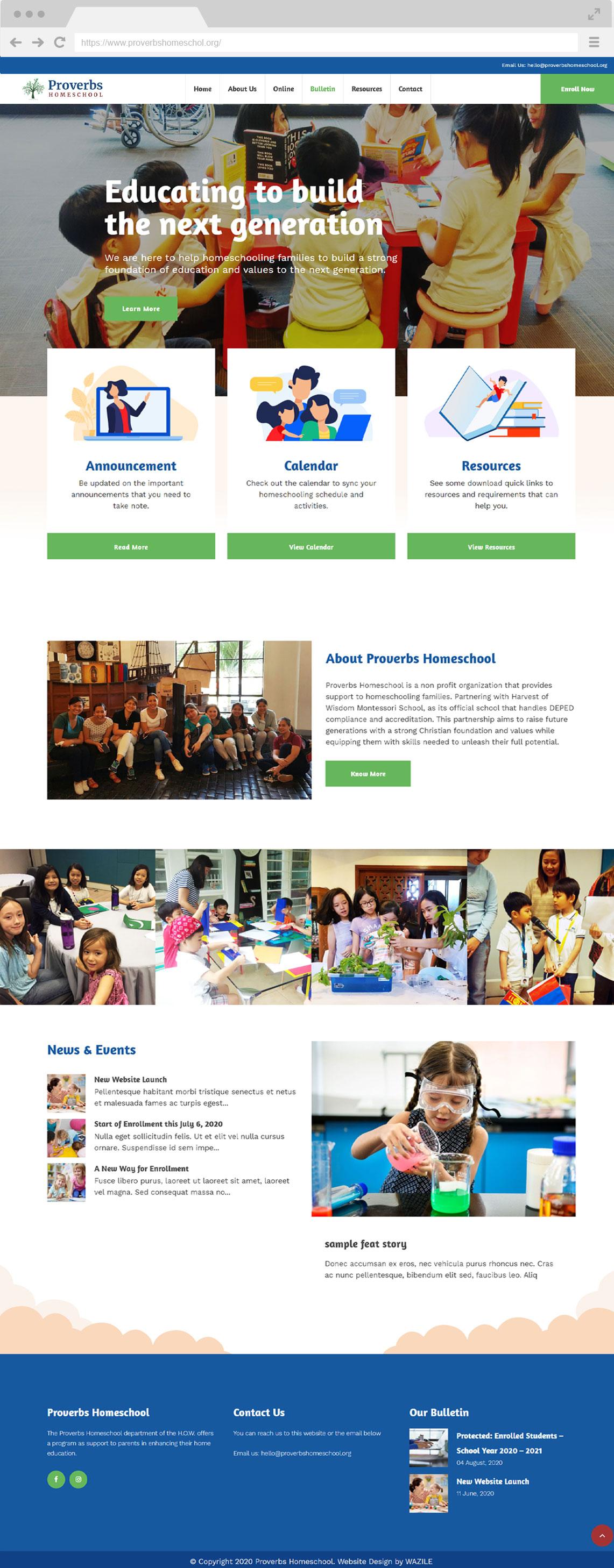 Proverbs Homeschool Homepage