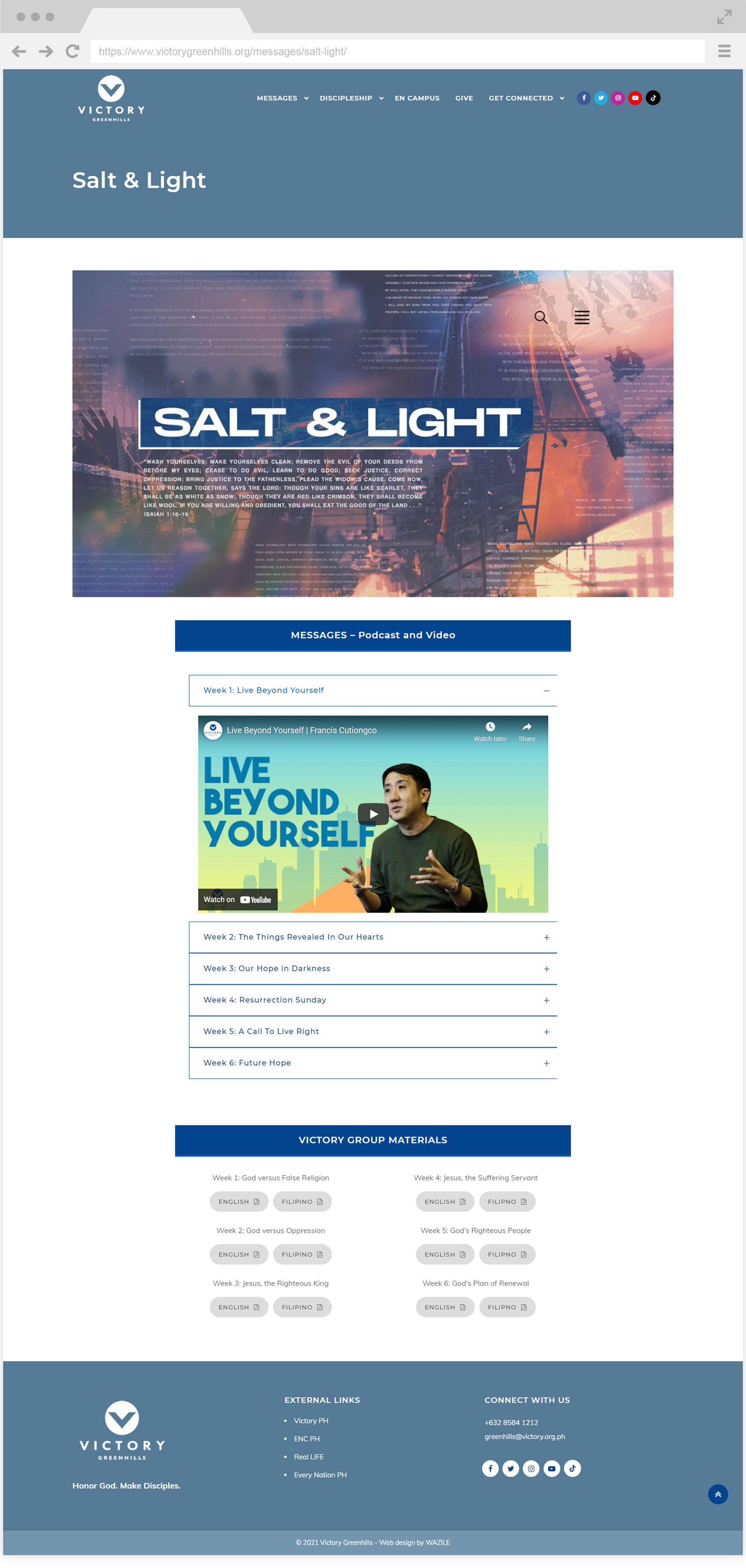 Victory Greenhills Salt & Light