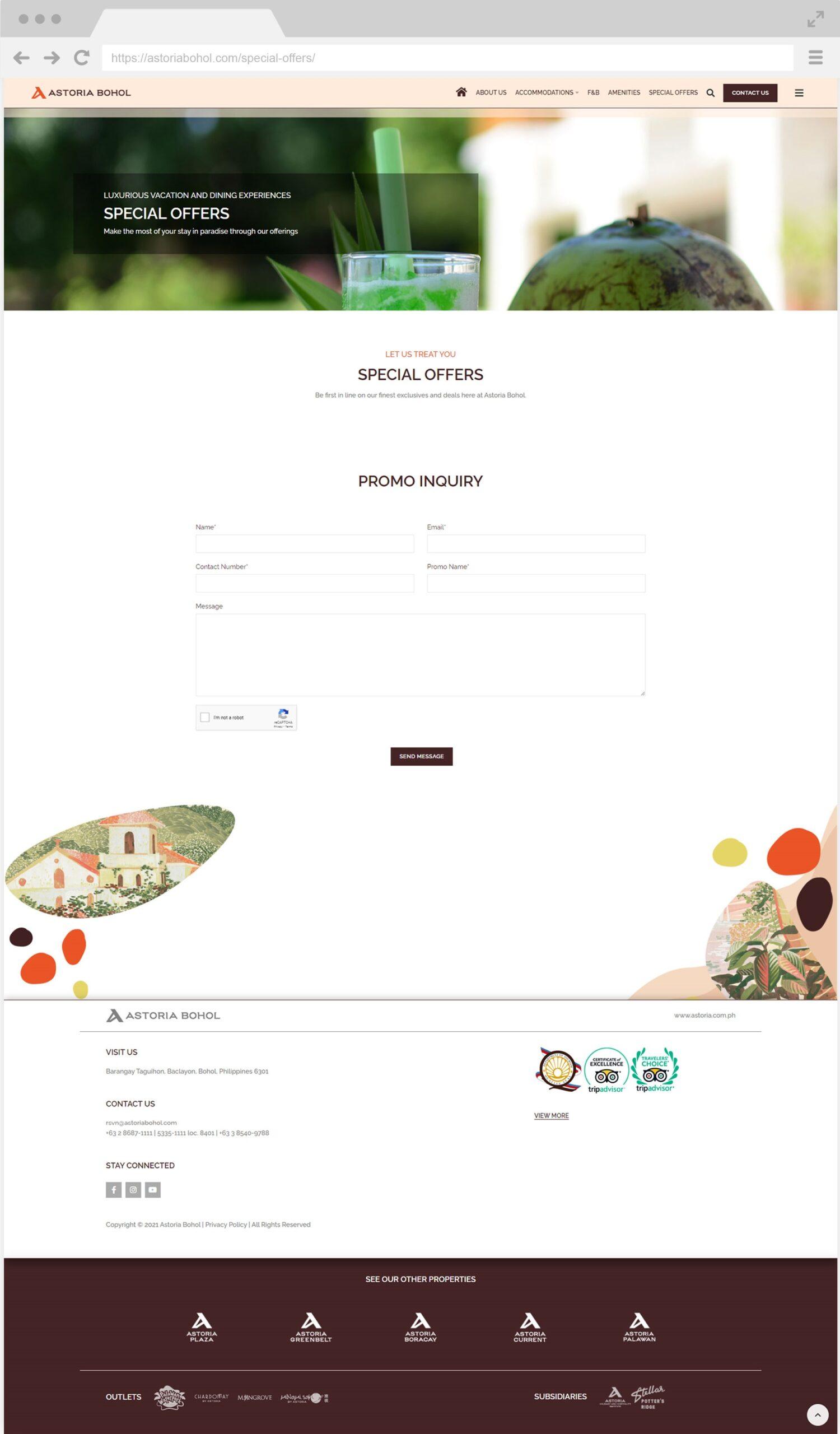Astoria Bohol Special Offers