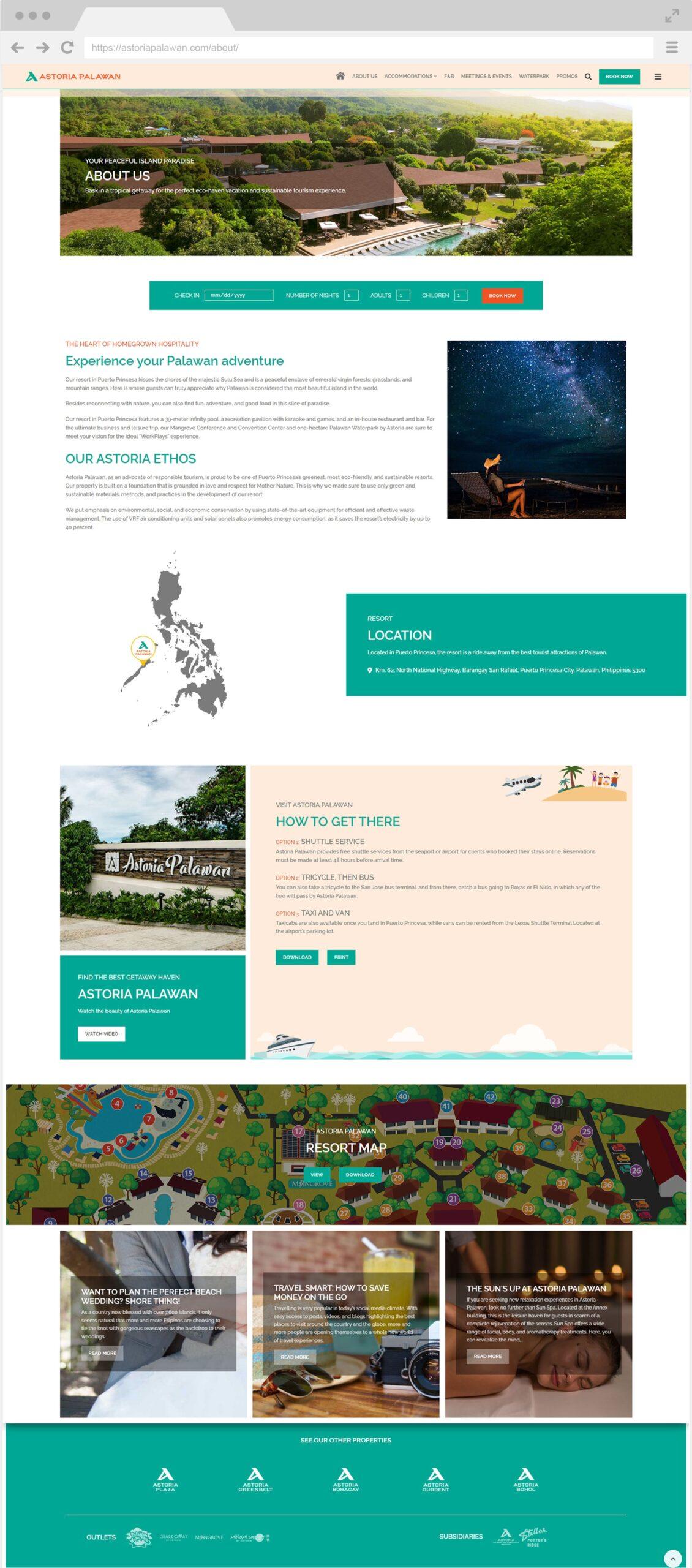 Astoria Palawan About