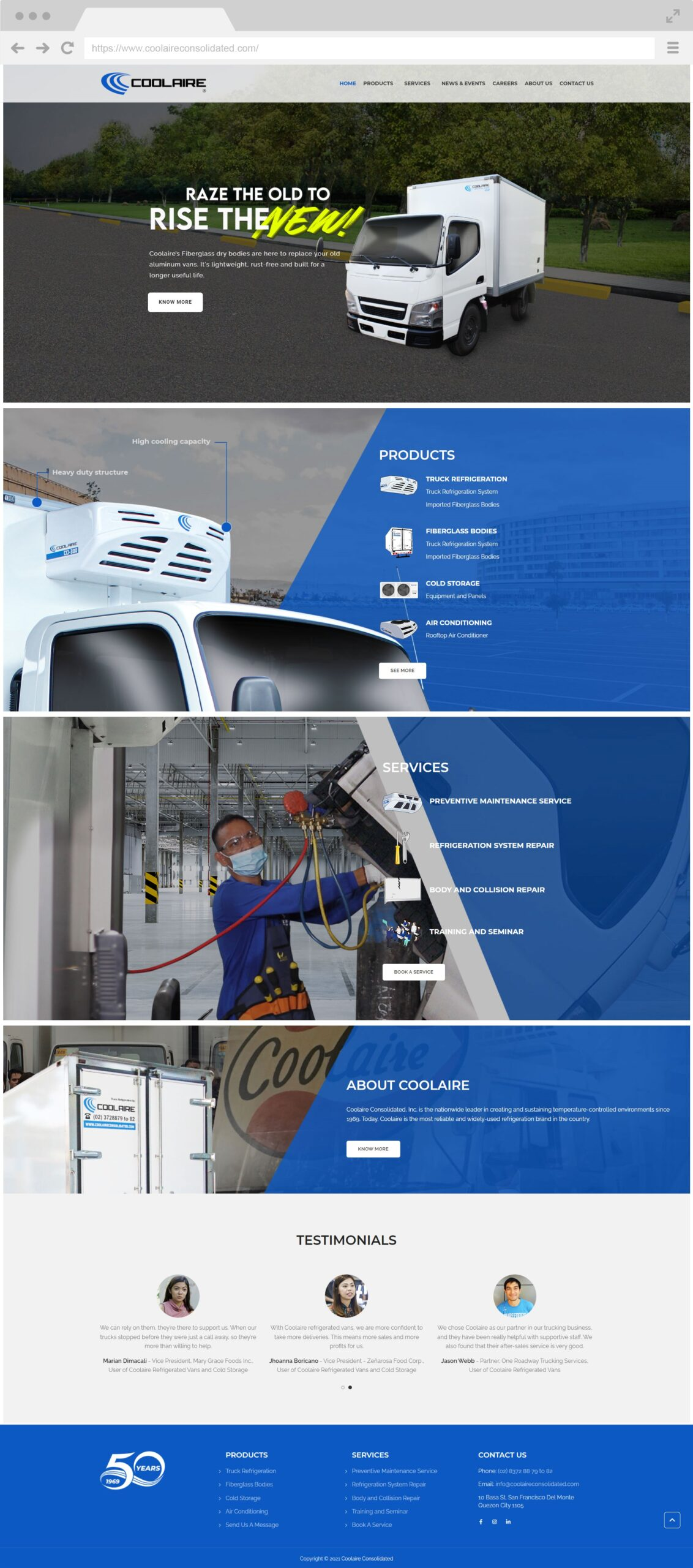 Coolaire Homepage