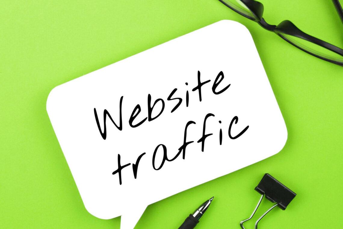 huge website traffic equals success