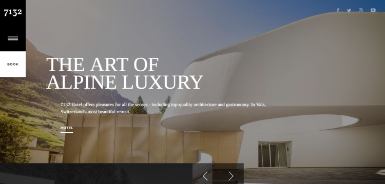 hotel luxury web design