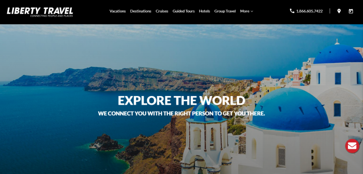 liberty travel web design