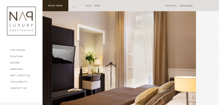 nap luxury web design