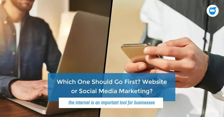 website vs social media marketing