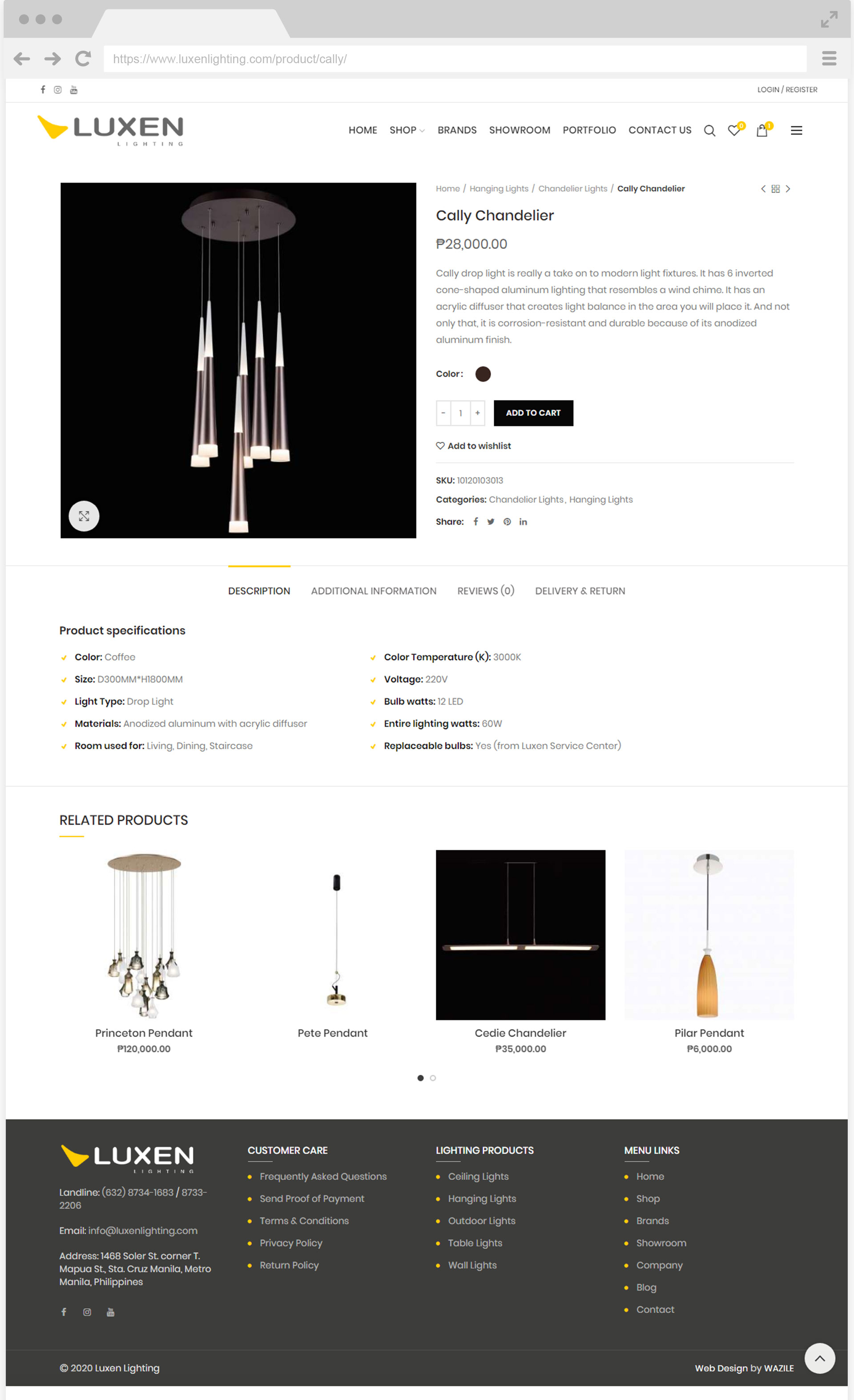 Luxen Lighting Single Product