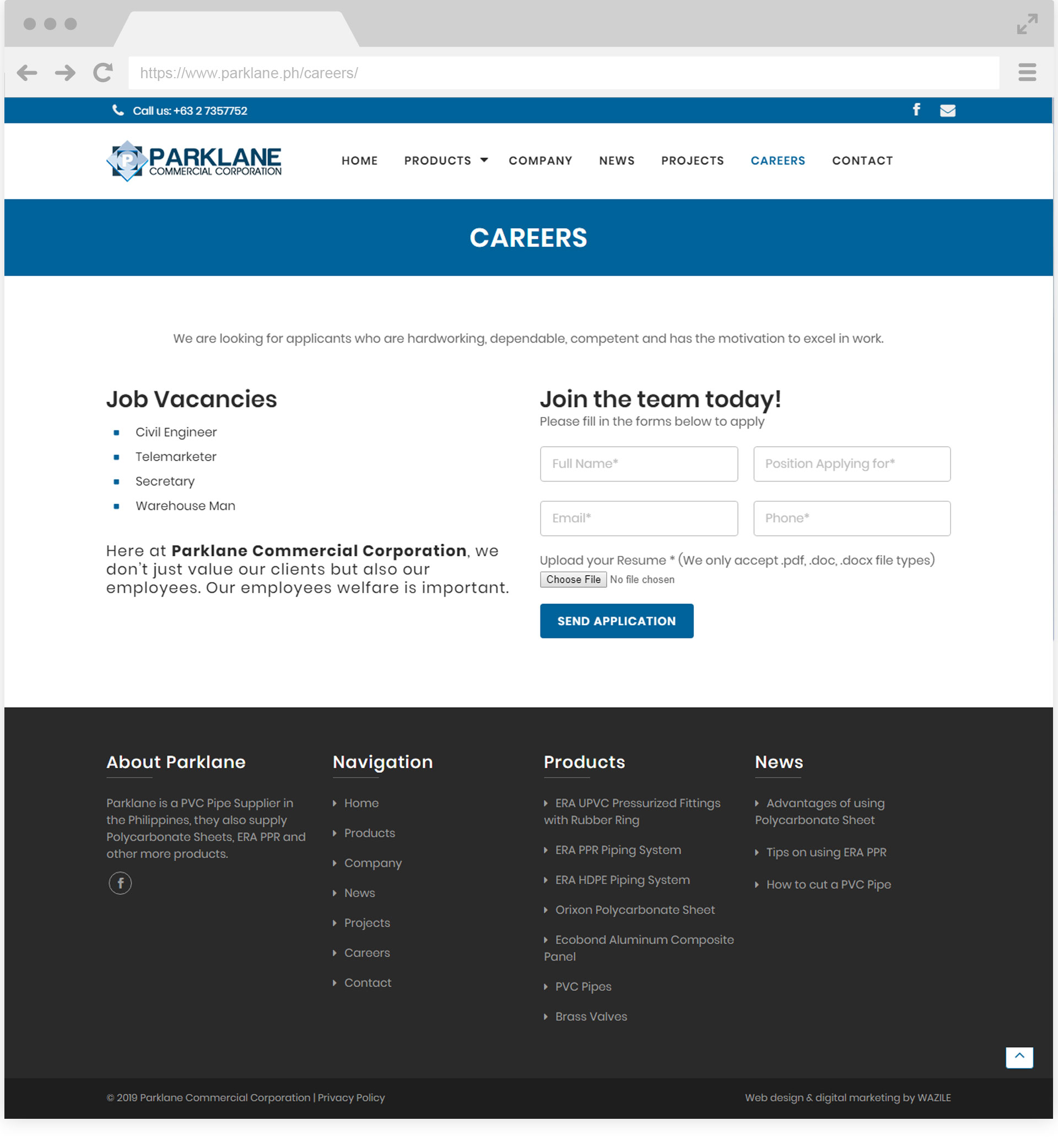 Parklane Commercial Corp Careers