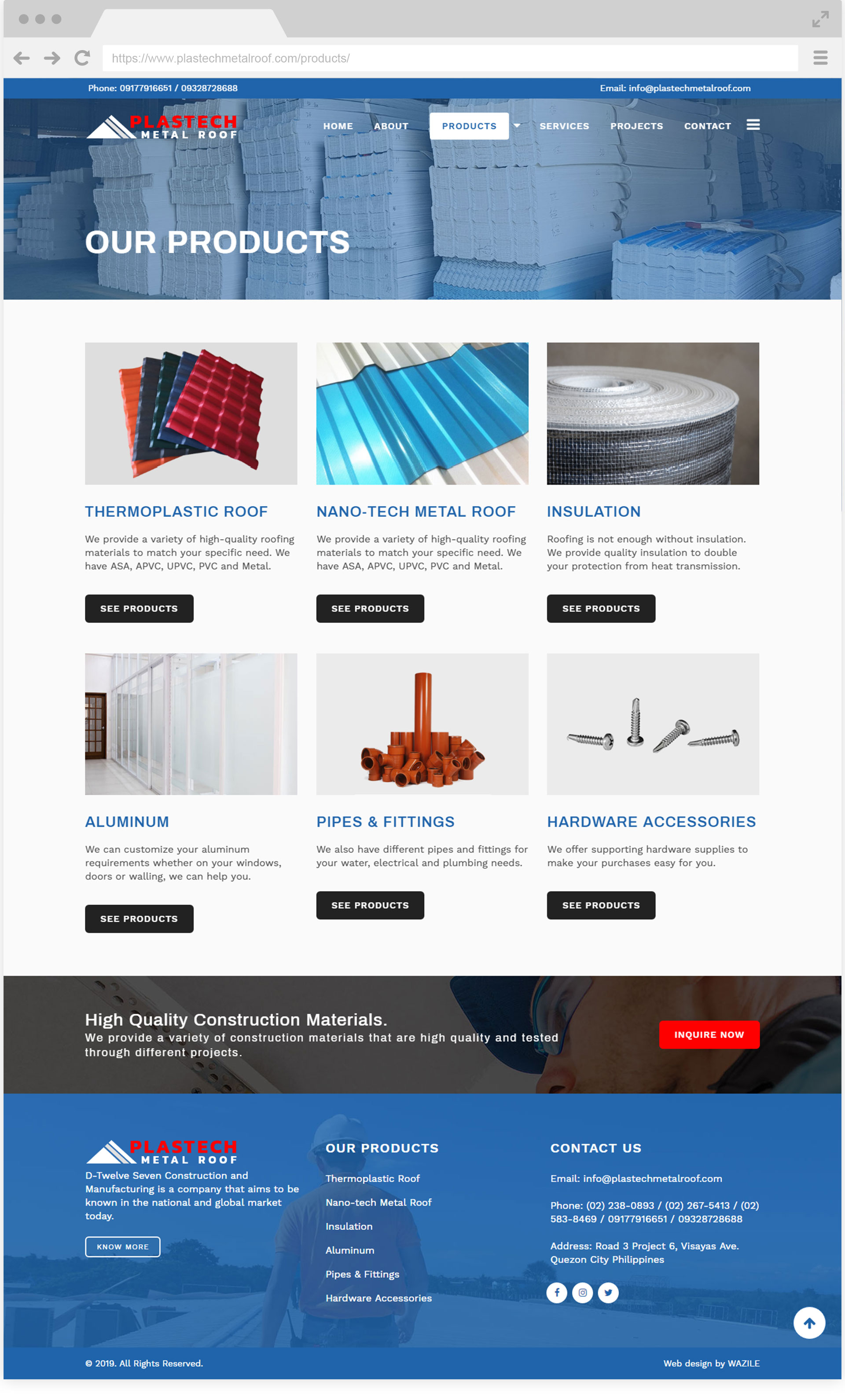 Plastech Metal Roof Products