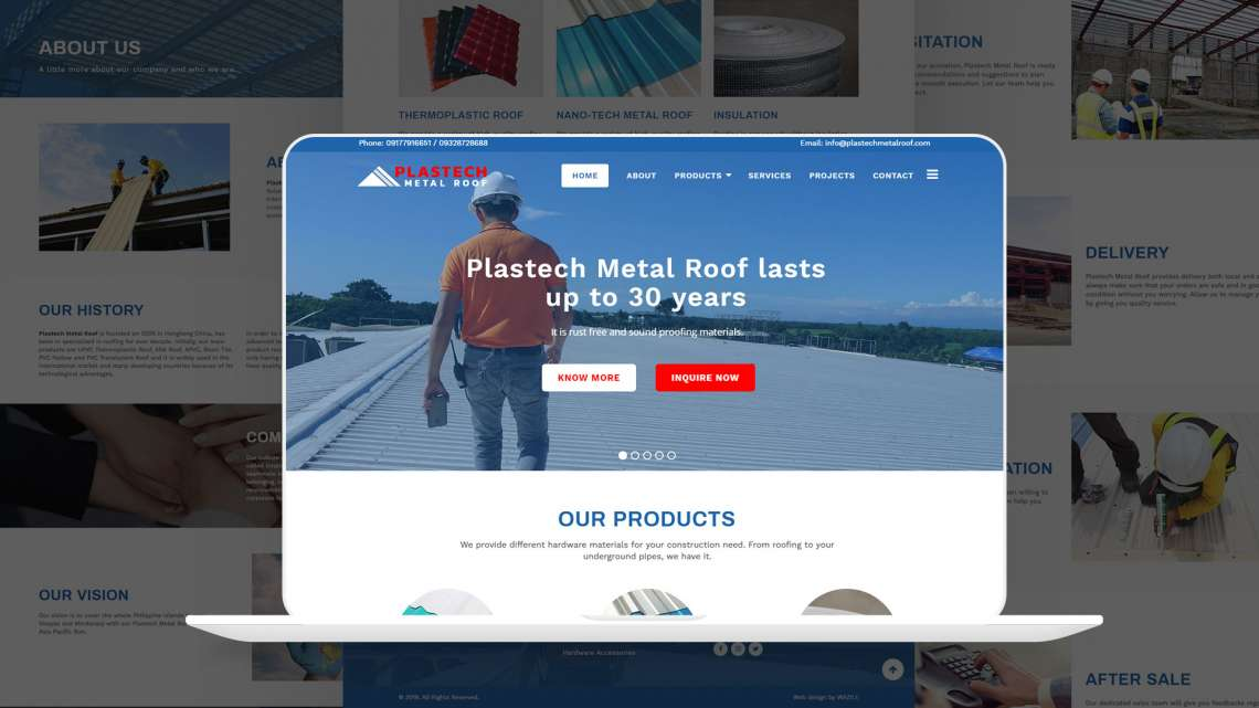 Plastech Metal Roof Website