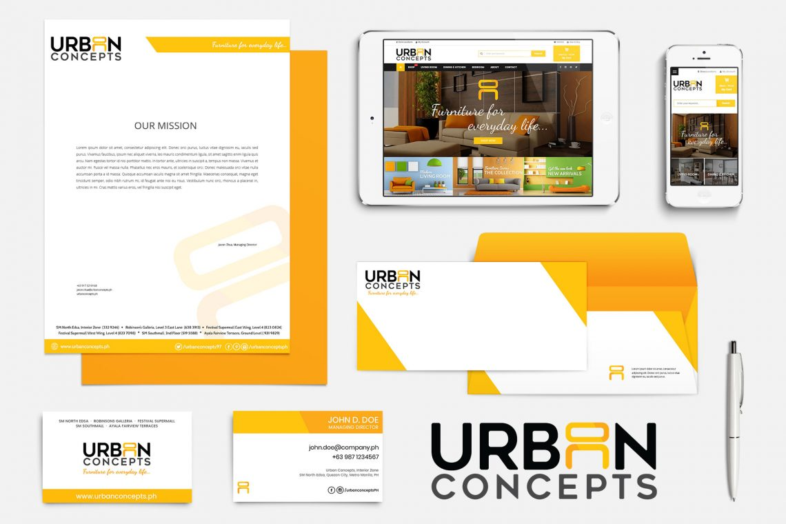 Urban Concepts Branding Collaterals