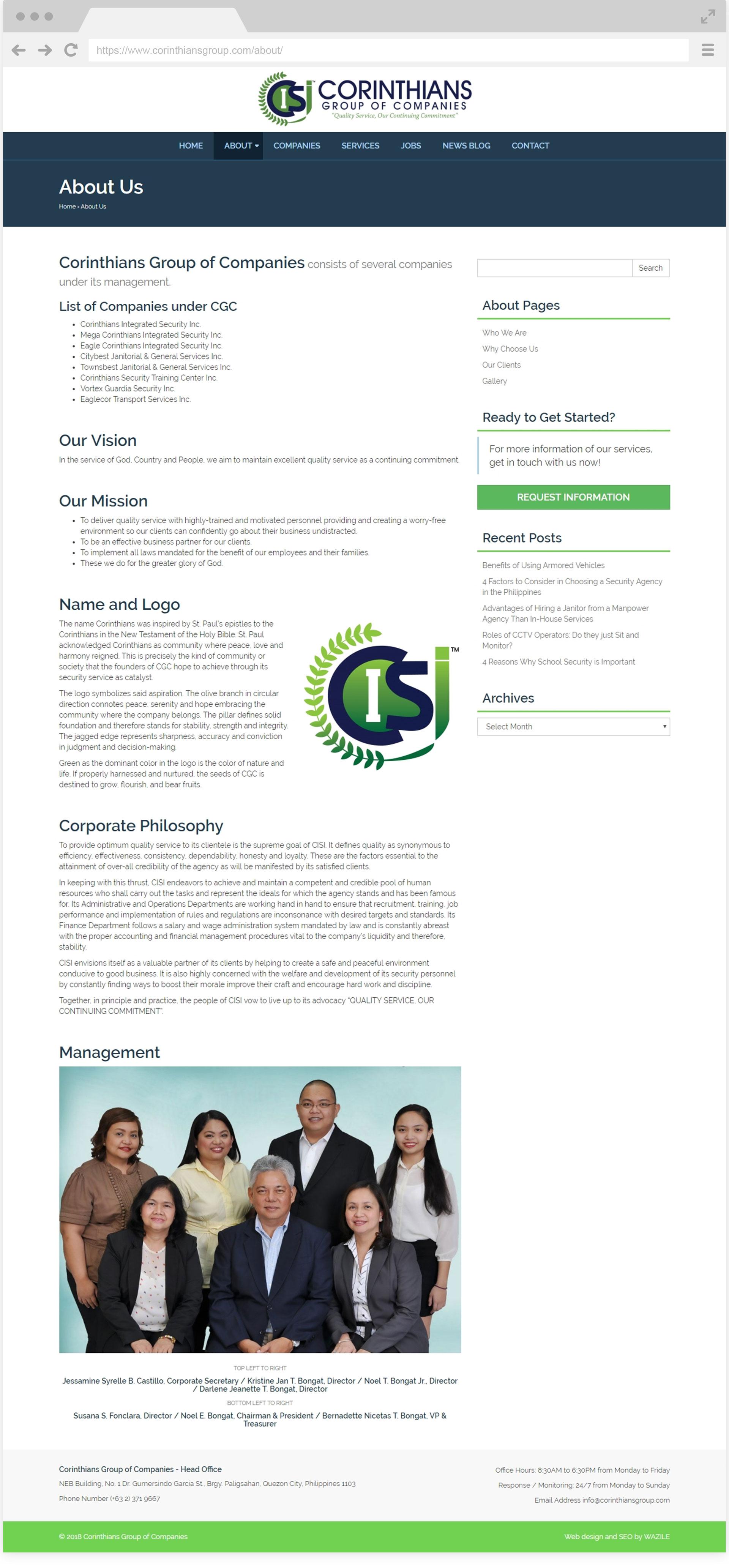 Corinthians Group About