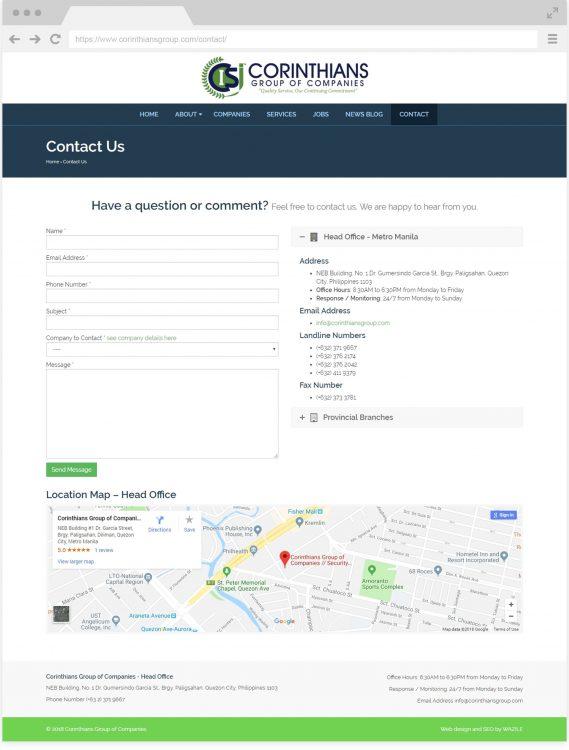 Corinthians Group Contact