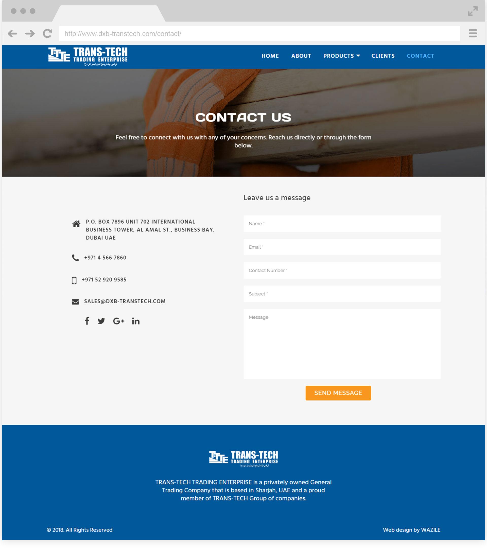 DXB Transtech Contact