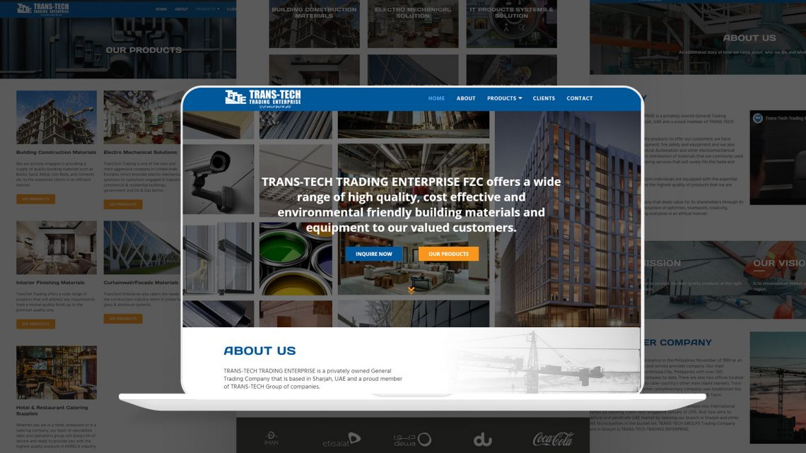 DXB Transtech Website