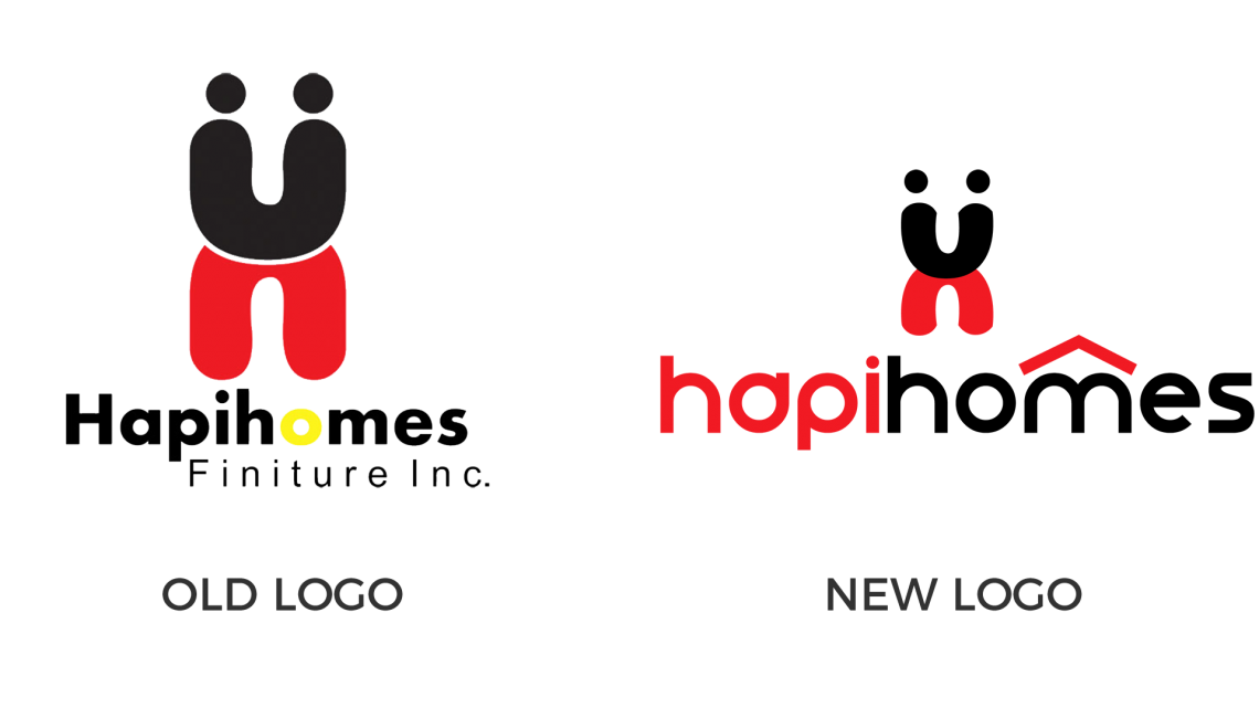 Hapihomes Logo Comparison