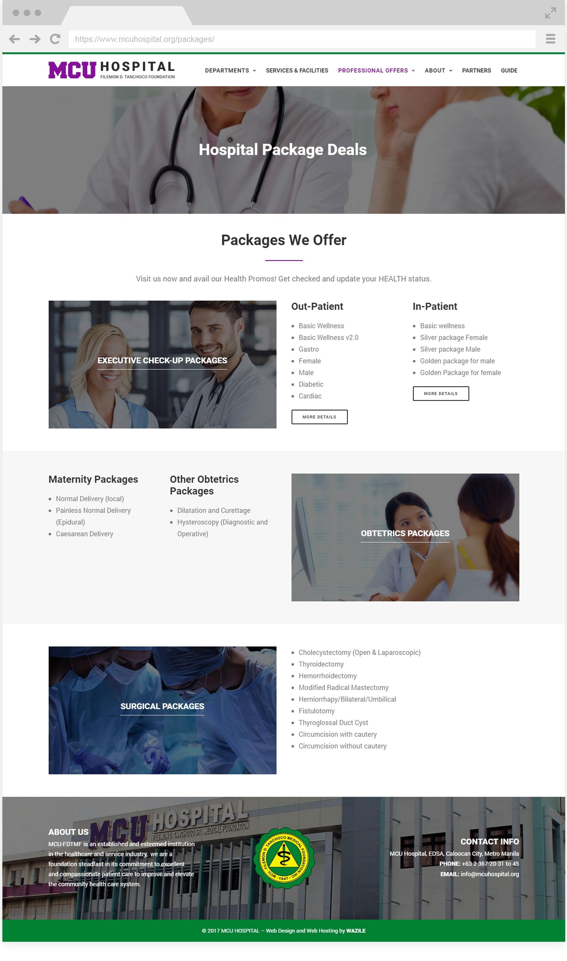 MCU Hospital Packages
