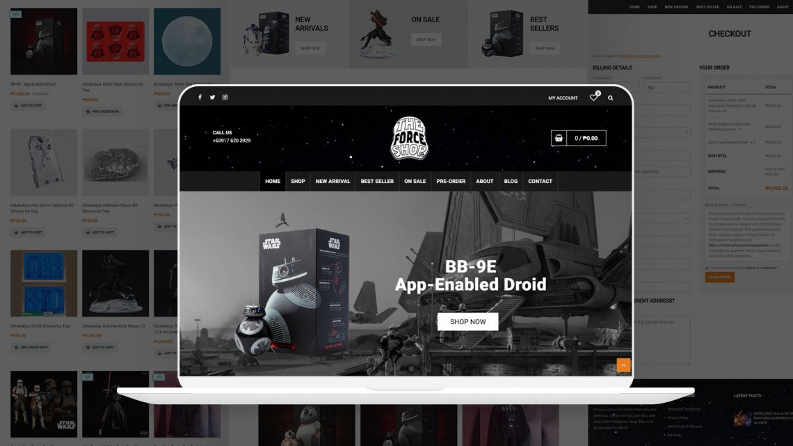 The Force Shop Website