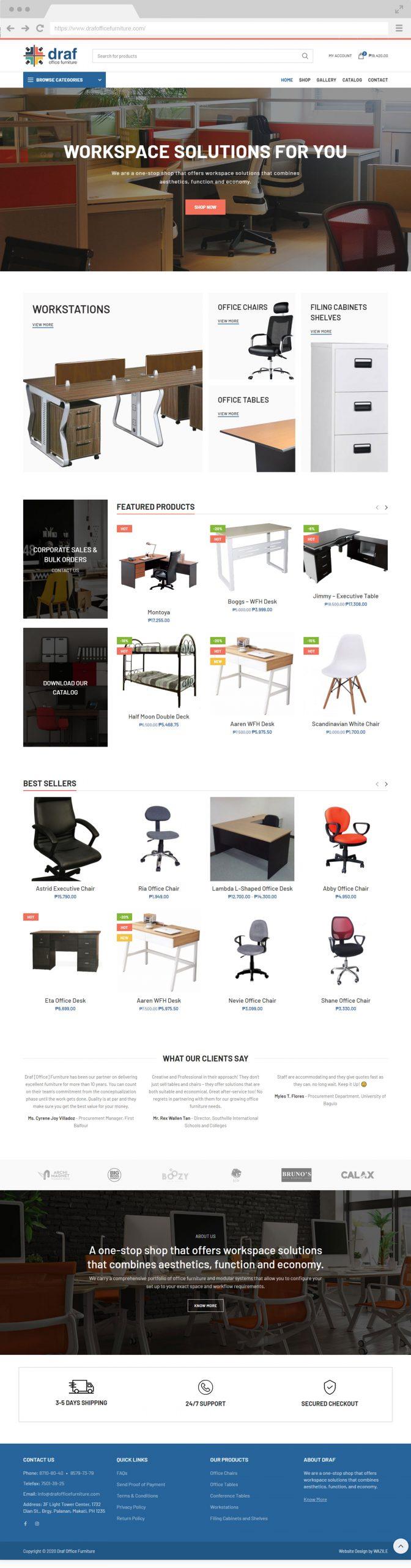 Draf Office Furniture Homepage