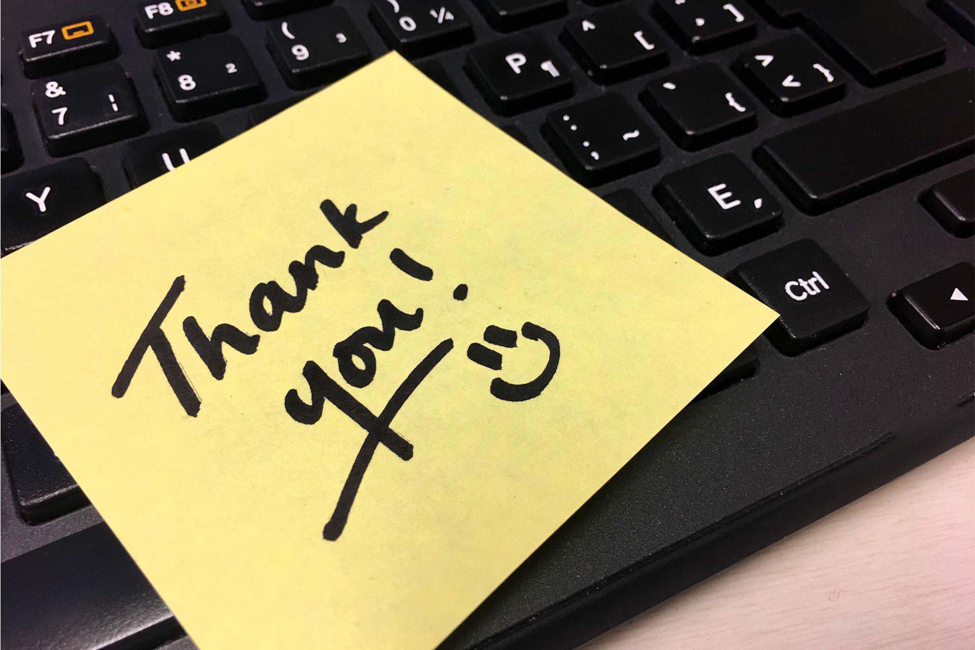 be appreciative to feedbacks